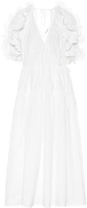 Cecilie Bahnsen Ruffled cotton dress