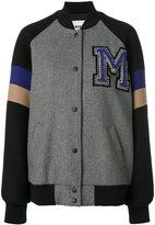 MSGM varsity bomber jacket - women - Polyamide/Polyester/Wool - 38
