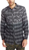 Burnside Men's Duck Dip Dye Flannel Shirt, Grey