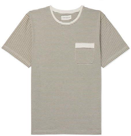 Oliver Spencer Envelope Striped Cotton-Jersey T-Shirt