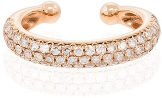 Shay 18kt rose gold Jumbo diamond ear cuff