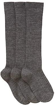 John Lewis & Partners Children's Wool Rich Knee High Socks, Pack of 3