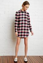 Forever 21 FOREVER 21+ Plaid Shirt Dress