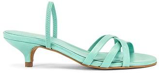 ALOHAS Wasabi Kitten Heel Sandal