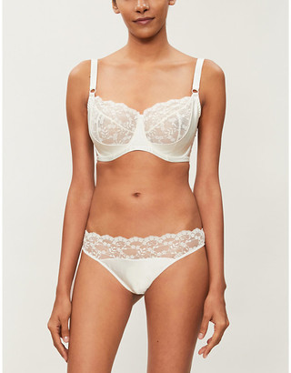 Selfridges Sophia lace and satin bra