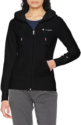 Champion Women's Classic Small Logo Hooded Full Zip Sweatshirt