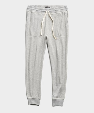 Todd Snyder Thermal Sweatpant in Grey Heather