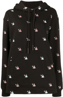 McQ All-Over Swallow Hoodie