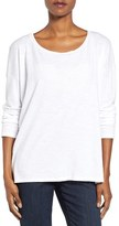 Eileen Fisher Women's Slub Jersey Ballet Neck Top