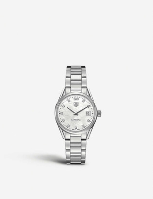 Tag Heuer War1314.ba0773 Carrera stainless steel and mother-of-pearl watch