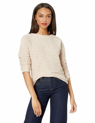 Andrew Marc Women's Boucle Long Sleeve Crewneck Pullover