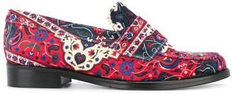 Leandra Medine Patterned Loafers