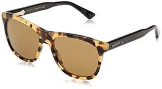 Gucci Men's GG0266S-004 Sunglasses, Brown (Havana/Negro Acetato)