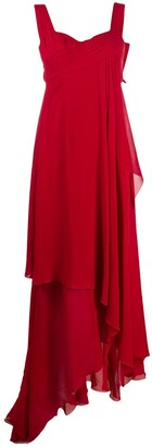 Christian Dior Pre-Owned 2000s layered asymmetric dress