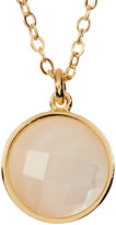 Melinda Maria Hunter Round MOP Pendant Necklace
