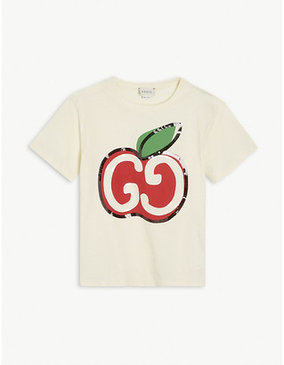 Gucci GG apple cotton T-shirt 4-10 years
