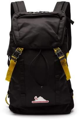 Off-White Off White Industrial-straps Nylon Backpack - Mens - Black