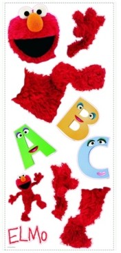 York Wall Coverings York Wallcoverings Sesame Street Elmo Peel and Stick Giant Wall Decal