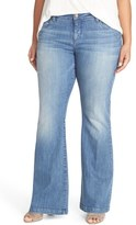 KUT from the Kloth 'Chrissy' Stretch Flare Leg Jeans (Breezy) (Plus Size)