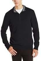 Calvin Klein Men's Cotton Modal 1/4 Zip Sweater