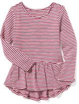 Old Navy Striped Peplum-Hem Top for Toddler Girls
