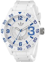 adidas Men's ADH3012 Newburgh White Stainless Steel Watch with Silicone Band