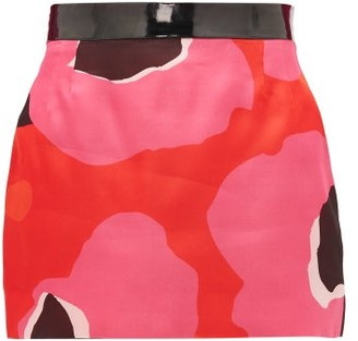 Elzinga - Pvc-waist Silk-organza Skirt - Pink