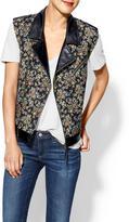 Juicy Couture Rhyme Los Angeles Tapestry Vegan Leather Vest