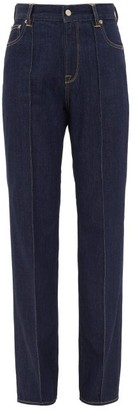 Golden Goose Hannah High-rise Cotton Jeans - Dark Denim