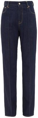 Golden Goose Hannah High-rise Cotton Jeans - Womens - Dark Denim
