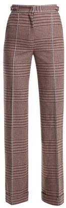 Gabriela Hearst Shipton High-rise Wool-blend Trousers - Womens - Burgundy Multi