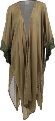 L'Autre Chose Fringed Sleeve Robe