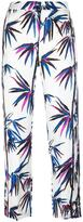 Emilio Pucci tree print cropped trousers - women - Silk - 40