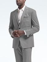 Banana Republic Standard Light Gray Wool-Cotton Suit Jacket