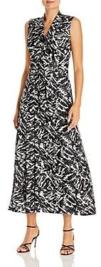 Jason Wu Zebra Print Silk Midi Dress