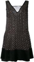 Koche - flared dress - women - Silk/glass/Polyester - 36
