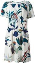 Tory Burch floral print short-sleeved dress - women - Silk/Polyester - 4