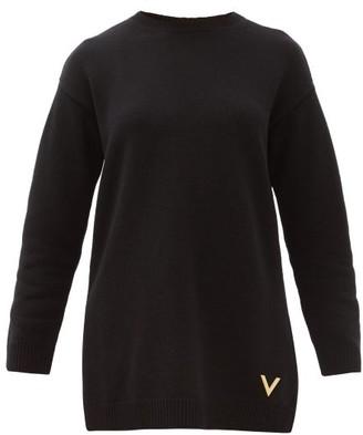 Valentino V-logo Cashmere Sweater - Womens - Black