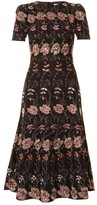 Givenchy Floral-embroidered short-sleeved midi dress