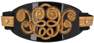 A.N.G.E.L.O. Vintage Cult 1980s Bead-Embellished Wide Belt