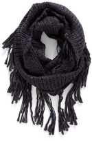 BP Women's Chunky Knit Fringe Scarf
