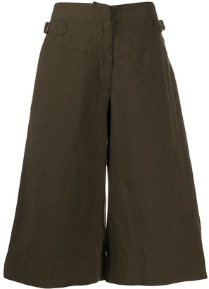 Margaret Howell Clinched Waist Cropped Trousers