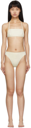 Rudi Gernreich Off-White The Original Thong Bikini