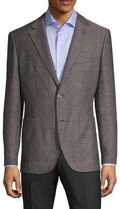 HUGO BOSS Lanificio Tesse Biella Regular-Fit Textured Wool Jacket