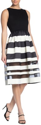 Alice + Olivia Larue Midi Striped Dress