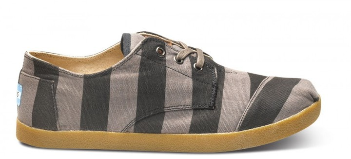 Toms Grey stripe canvas men's paseos