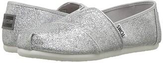 Toms Kids Alpargata (Little Kid/Big Kid) (Silver Iridescent Glimmer) Girl's Shoes
