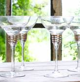 The Forest & Co Set Of Four Spiralled Margarita Glasses