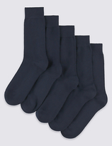 M&S Collection 5 Pairs of FreshfeetTM Cushioned Sole Socks