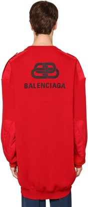 Balenciaga Oversized Wool Ribbed Sweater